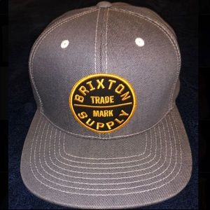Brixton Grey Denim SnapBack Cap